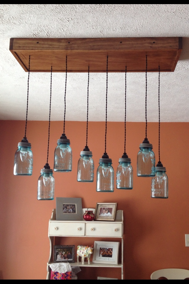 17 best images about mason jar lighting on pinterest - Make your own light fixtures ...
