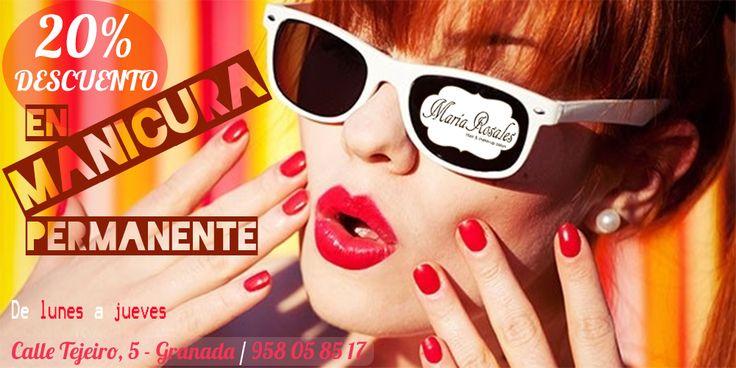 20% de #DESCUENTO en #MANICURA PERMANENTE!!!