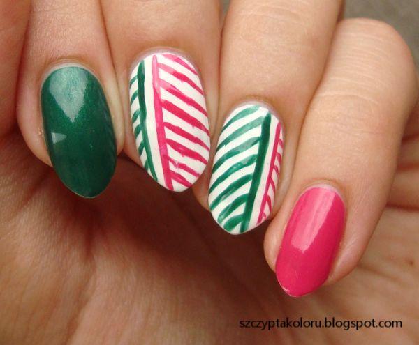 Jodełka #nails #nailart