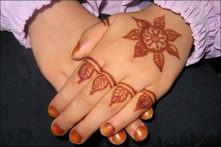 Floral Design - Simple Mehndi Designs For Kids