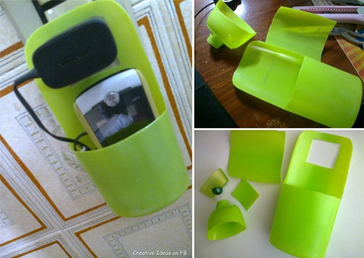 project  diy :Charging Mobile Holder by https://www.facebook.com/CreativeIdeass/photos/a.245224355600224.52897.211476408975019/329160967206562/?type=3&permPage=1