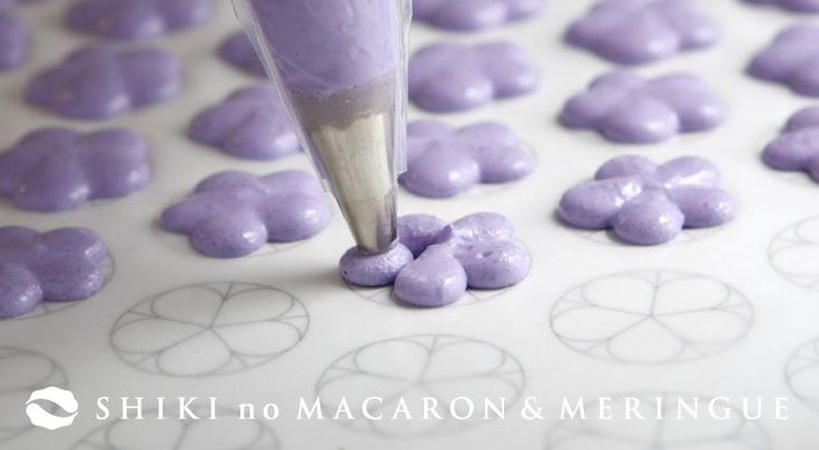 Flower macaron template. Can't find this page on the site (doesn't help that it's in Japanese), but you get the gist here.