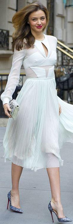 White pleated dress LBV