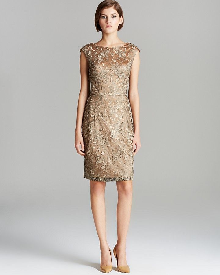 Sue Wong Dress Cap Sleeve Lace Embroidered On Style