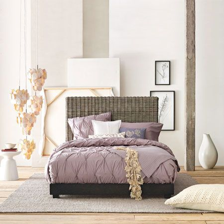 like the mauve: Interior Design, Decor, Purple, Color, Dream, Master Bedroom, Bedrooms, West Elm, Bedroom Ideas