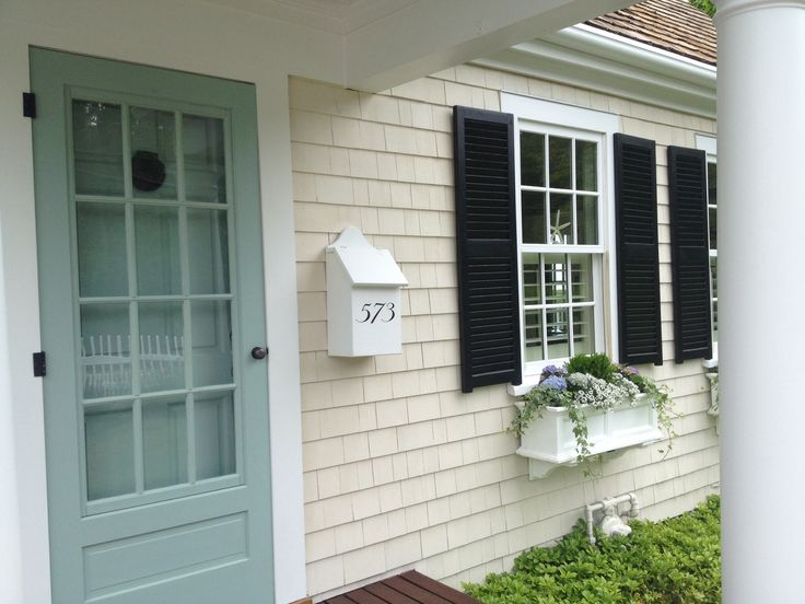 I think I got this right...front door painted BM Blue Wythe. Almost did Palladian Blue but it was too light.