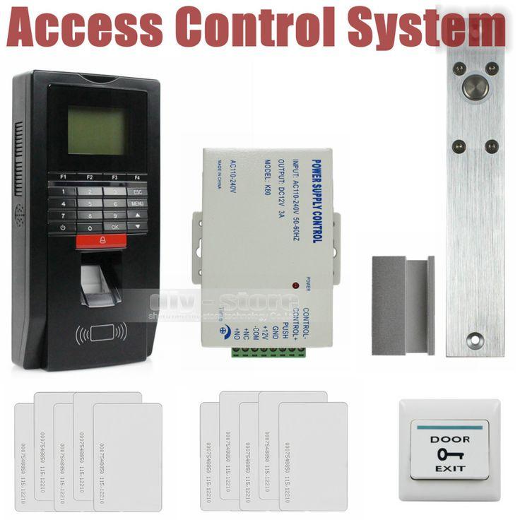 DIYSECUR Fingerprint Id Card Reader Password Keypad Door Access Control System Kit Drop Bolt Lock For Office / House #Affiliate