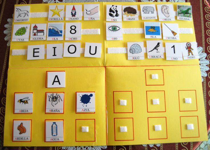 Libro para trabajar la conciencia fonológica de las vocales