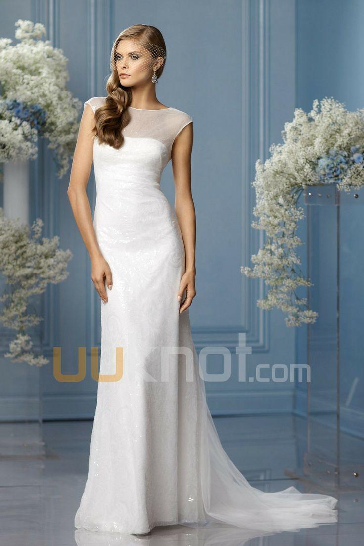 50 best Sheath/ Column Wedding Dresses images on Pinterest | Short ...