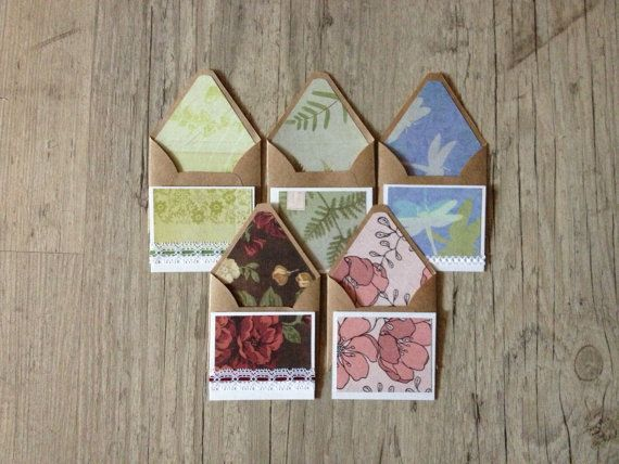 5 Randomly choosen envelopes with cards  by InghettaDesign on Etsy