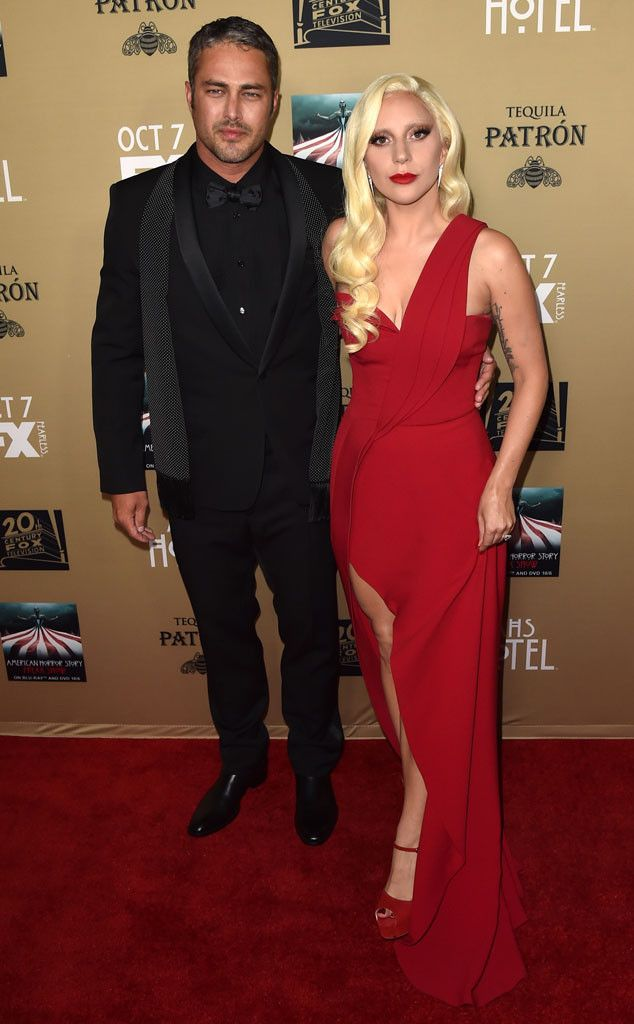 Lady Gaga Wears Sexy Red Dress at American Horror Story: Hotel Premiere, Shows PDA With Taylor Kinney: See Pics | E! Online Mobile