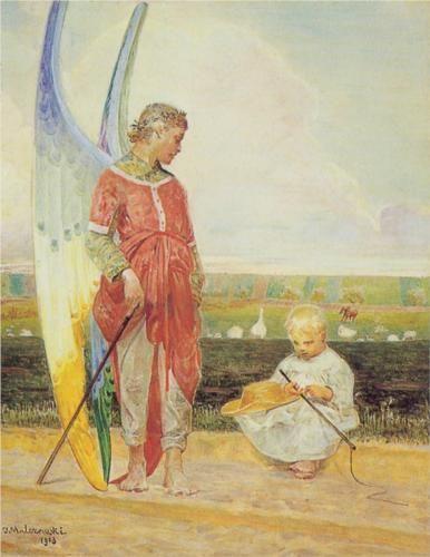 Angel and the LIttle Shepherd Boy - Jacek Malczewski