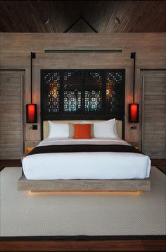 Asian inspired bedroom interior design