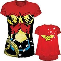 Wonder Woman Costume and Cape T-shirt