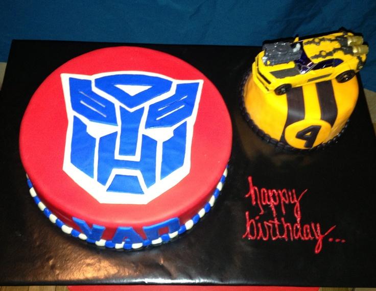 Transformer Cake Optimus Prime Partay Stuff