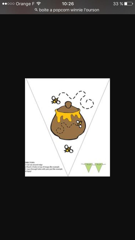 Fanion pot de miel