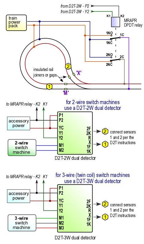 loop wiring with relay Model Trains Model railway