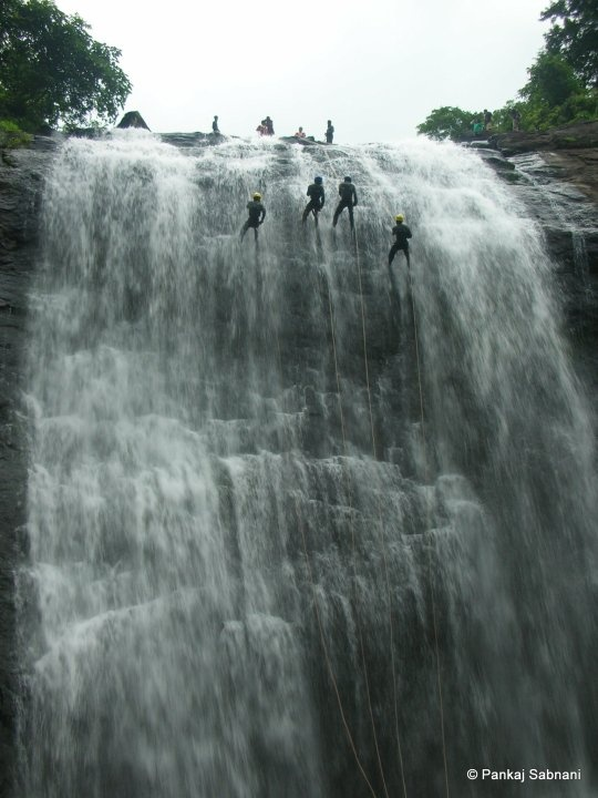 Waterfall rappelling Oh yes, this is calling my name. Reminds me of waterfall rappelling in Costa Rica