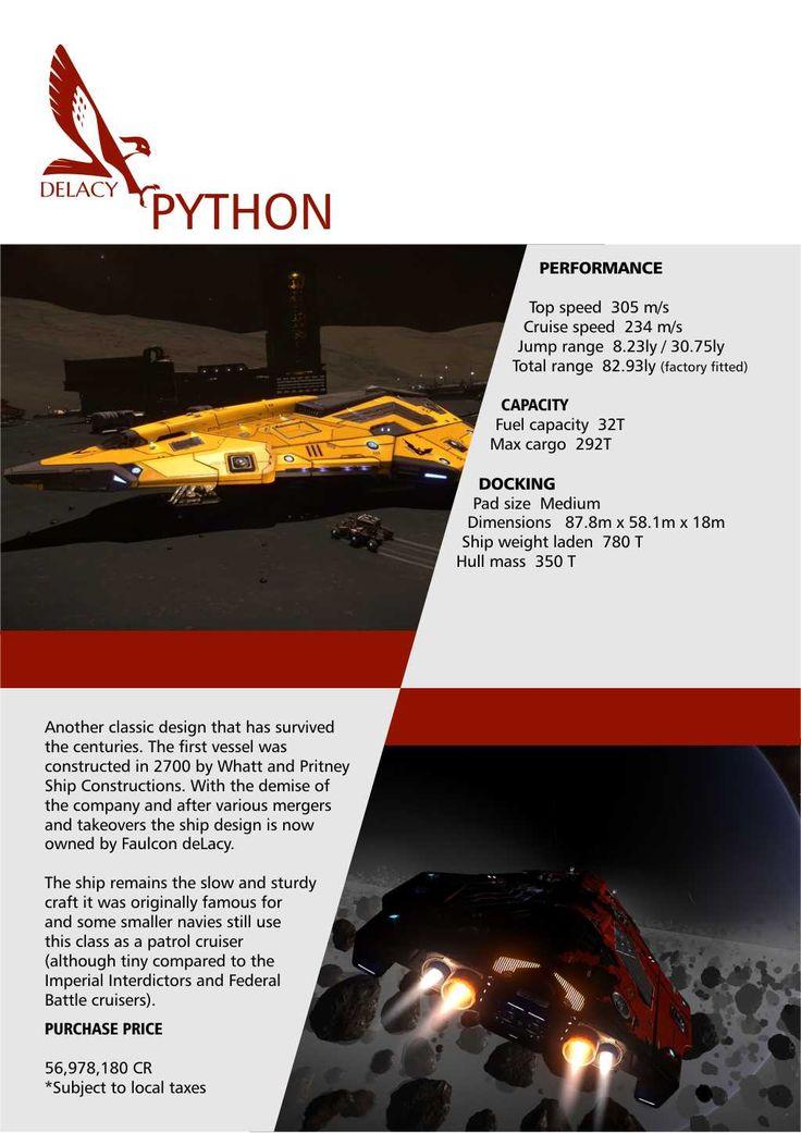 Elite: Dangerous Python Falcon DeLacy Ships Brochure