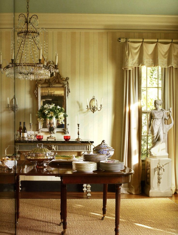 Elegant Classic Interior Dining Room Suzanne Rheinstein At Home