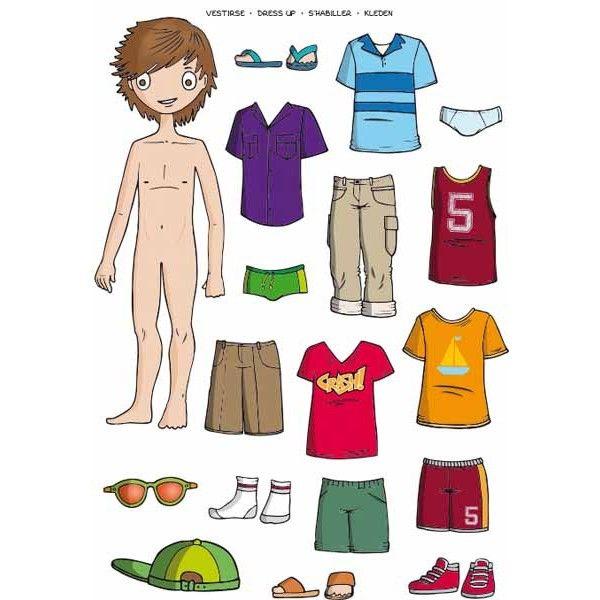 """Comprar Blister 2 hojas Gomets Temáticos """" Vestirse Niño """" Apli 13353 #gomets #manualidades #infantil #niños #diversion #niño #ropa #vestir"""