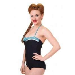 maillot de bain 1 pi ce rockabilly pin up pois polka maillots de bain bikini r tro pinup 50 39 s. Black Bedroom Furniture Sets. Home Design Ideas