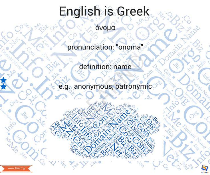 Όνομα.  #English #Greek #language #Αγγλικά #Ελληνικά #γλώσσα #LLEARN
