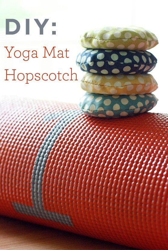 DIY Yoga Mat Hopscotch (Cosmo Cricket)