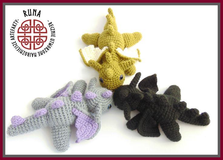 crochet baby dragons