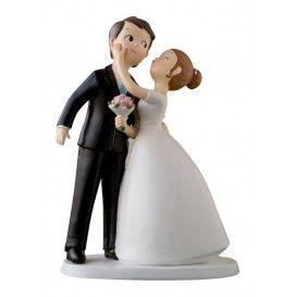 Cake Topper Coppia di sposi bacio