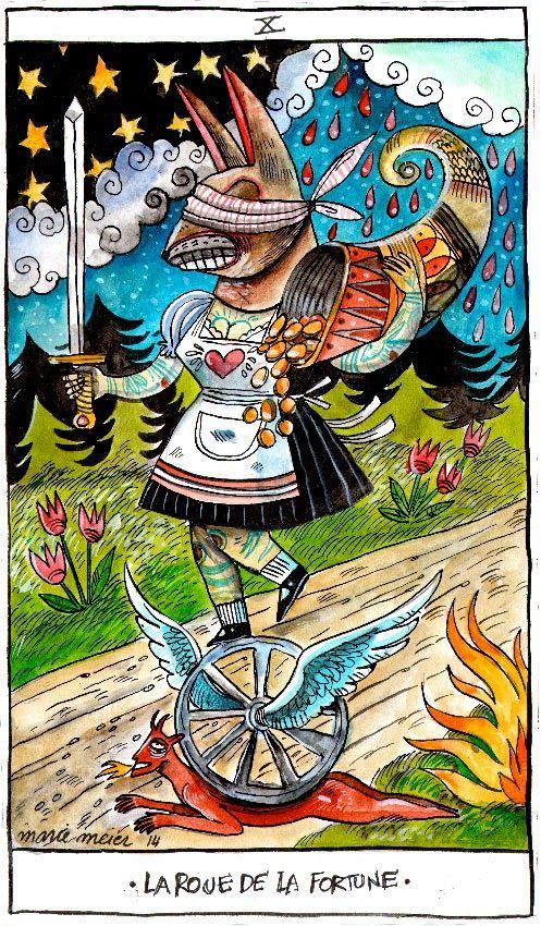 Marie Meier, Illustratrice Et Imprimeuse: TAROT WILDER