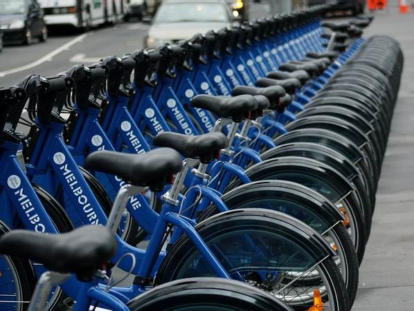 Melbourne's bike share program ... controversial for some, but for others a magnificent way to see Melbourne