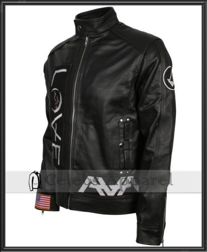 Fashion Mens Celebrity Tom Delonge Angels and Airwaves AVA Love Leather Jacket