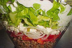 Schichtsalat auf griechisch (Rezept mit Bild) von Sandraalbert   Chefkoch.de