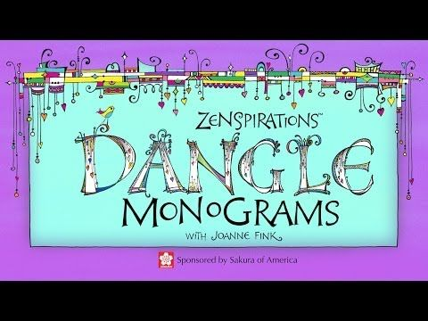 Awesome video shows how to Draw Zenspirations Dangle Monograms with Joanne Fink. Tag it if you don't have time to watch it now...