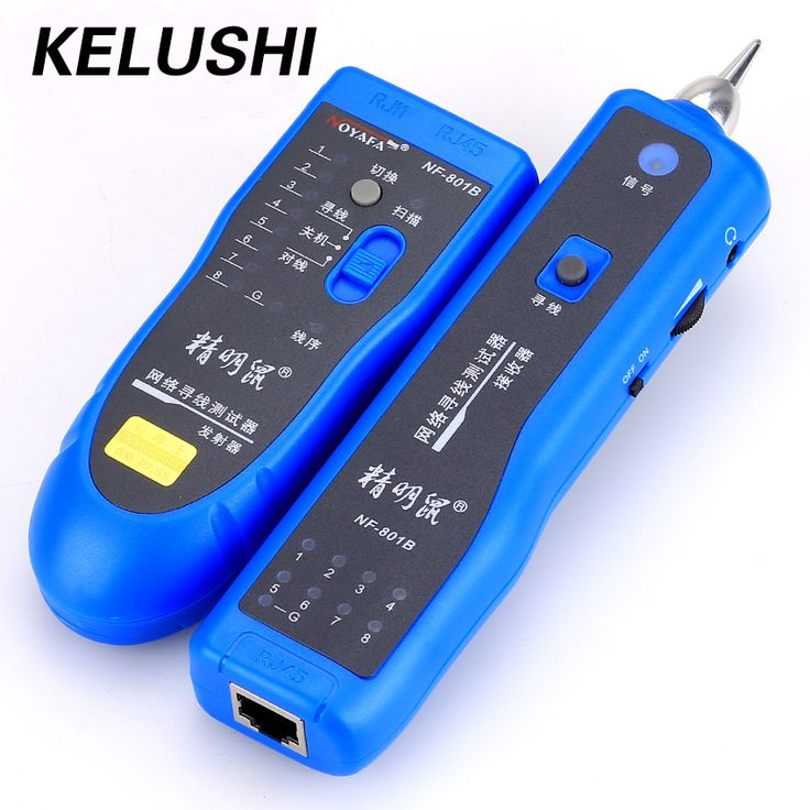 KELUSHI Free Shipping Network RJ11 RJ45 network LAN cable tracker Fault locator and cable tester LAN Cable Tester NF-801B #Affiliate
