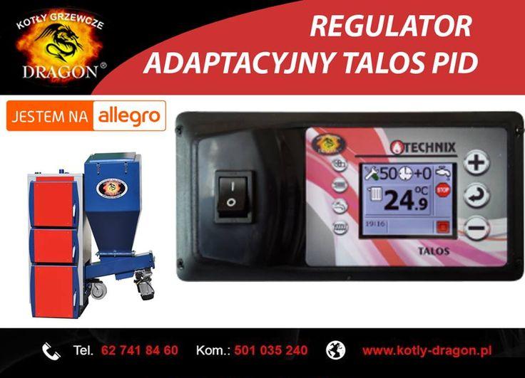🔲Regulator adaptacyjny TALOS PID przeznaczony jest do sterowania pracą kotła CO wyposażonego w podajnik tłokowy lub ślimakowy.  🔲 Zapraszamy na nasze aukcje w serwisie allegro ➞ http://allegro.pl/listing/user/listing.php?us_id=34032782  ⚫KONTAKT: 📞tel./fax: 62 741 84 60 📲kom. 501 035 240  ✉e-mail: biuro@kotly-dragon.pl ✉e-mail: handlowy@kotly-dragon.p l #kocioł #kotły #piece #dom #ogrzewanie #miał #pellet #ekogroszek #węgiel #centralne #producent #polskiprodukt