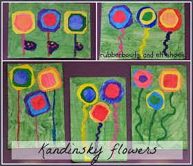 rubberboots and elf shoes: Kandinsky circles - spring style