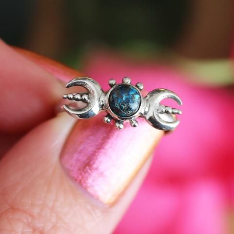 Killing Moon High Azurite Ring