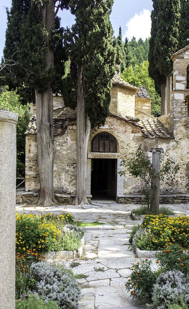 Kaisariani Monastery was established in the 10th century on Mount Hymettus, overlooking Athens. The original church from this period is still accessible and some of the frescoes are in an excellent condition. *Click through for more photos*
