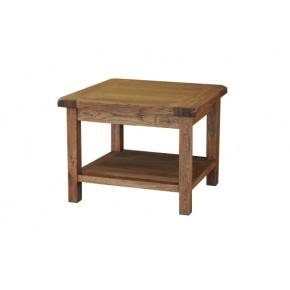 Rustic Solid Oak SRDT16 Coffee Table 530mm   www.easyfurn.co.uk
