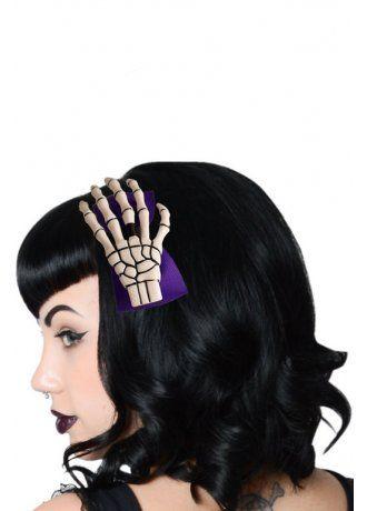 Kreepsville 666 Skeleton Hand Alice Band | Attitude Clothing