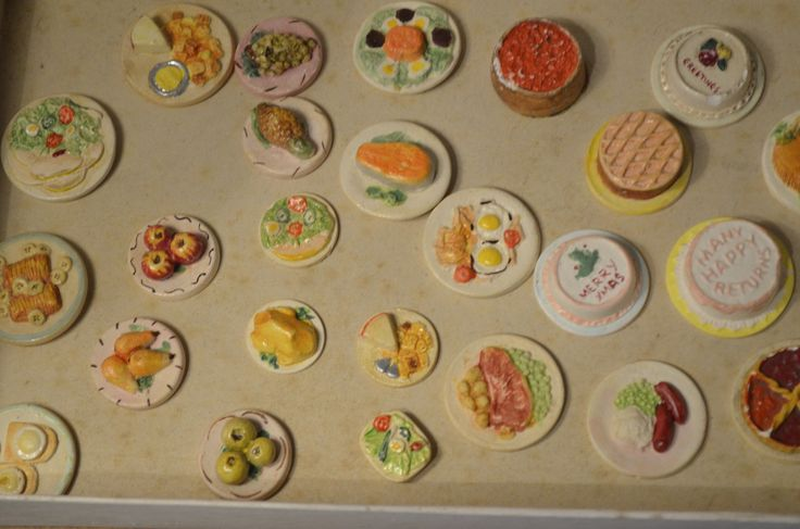 25 items of UNUSED OLD STOCK Vintage Kaybot Kay's Plaster Dolls food collection   eBay