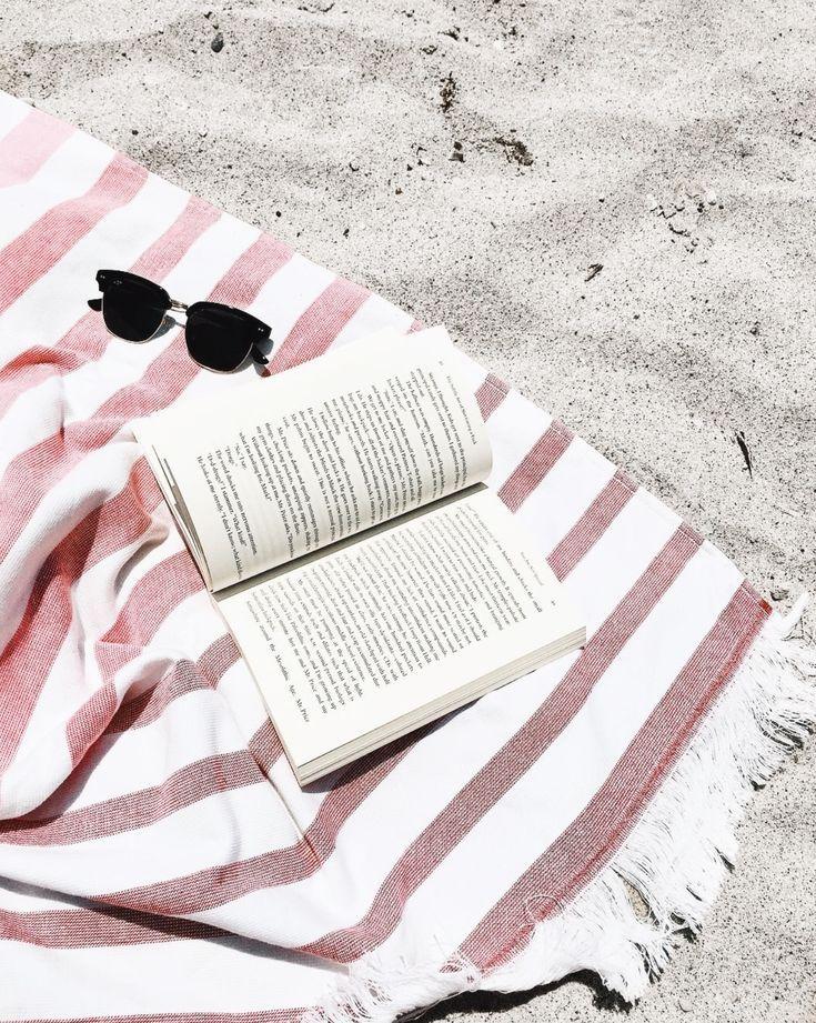 Beach   Summer   Sunglasses   Book   Pastel   …