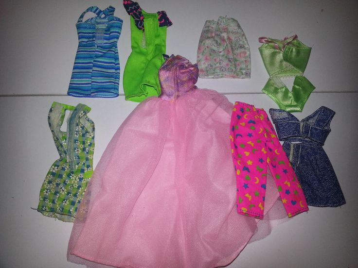 Barbie Doll Clothing & Dallas Horse & Cup & Other Items