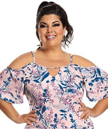 370cf60e79 Fabiana Karla by Hiroshima - Conjunto 2 peças (Blusa em malha devorê e  vestido em malha piquet com elastano)
