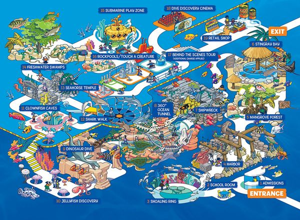 Sea life usa grapevine tx map looks like a fun place to for Fishing spots in dallas