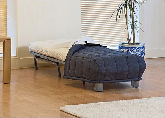 Roma Single Seat Futon Sofa Bed and Cover - Roma Single Seat Futon Sofa Bed and Cover - Open