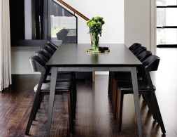 Black Stained Jutland Solid European Beechwood 280 x 100cm Dining Table by Mads…