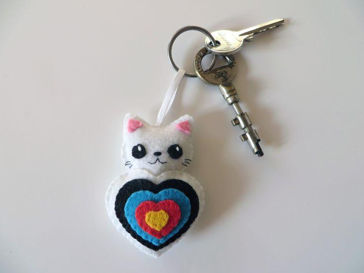 Porte clé, tir à l'arc, porte-clef, tir a l'arc, chat kawaii, porte clés : Porte clés par i-believe-i-can-fil